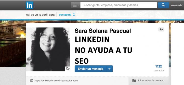 Linkedin no ayuda a tu SEO
