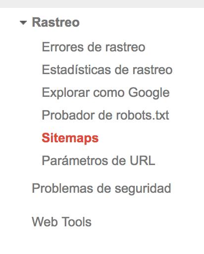 Añadir sitemap Search Console