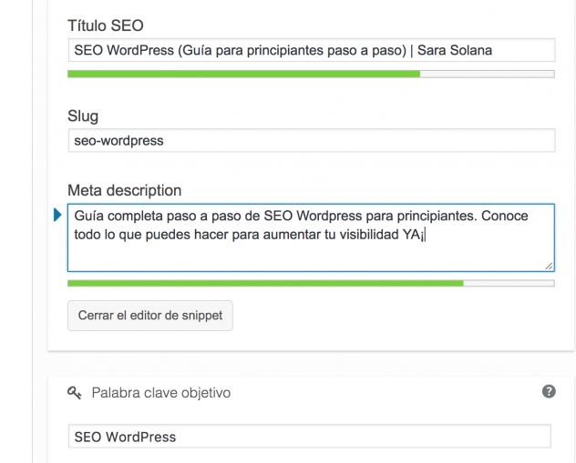 Optimizar plugin y metas SEO WordPress